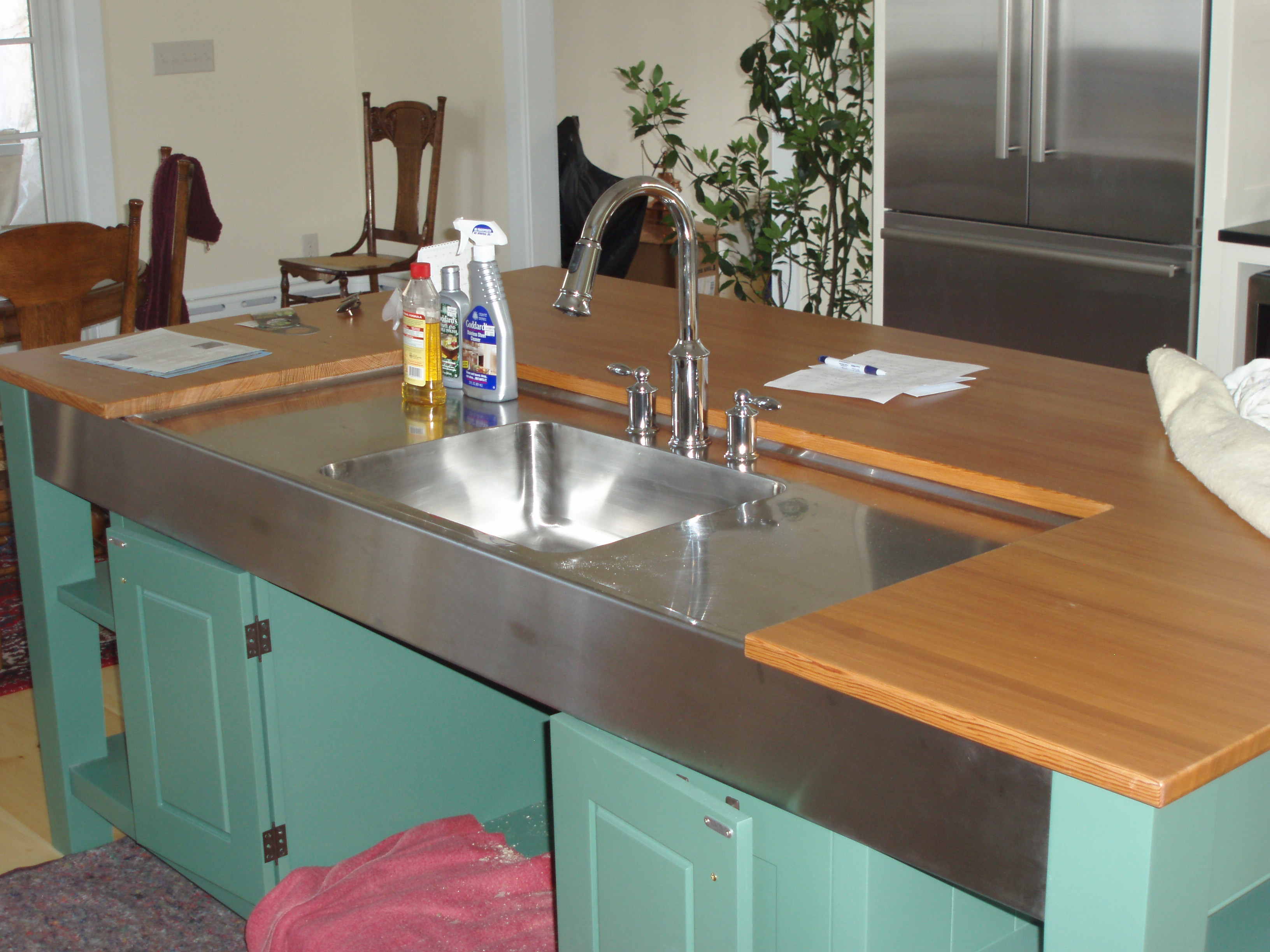 Custom stainless sink