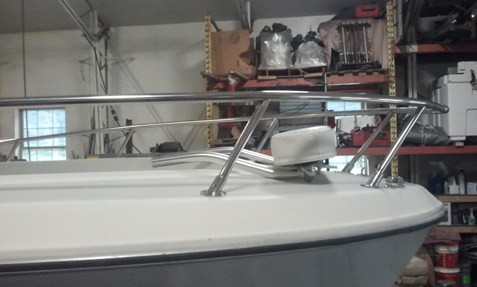 Stainless bow rails